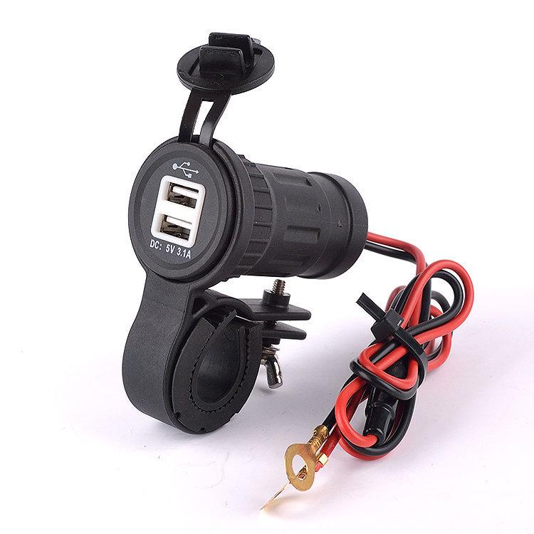 Motorcycle Cigarette Lighter USB Power Charger with bracket|Motorcycle charger|Motorcycle lighter bracket