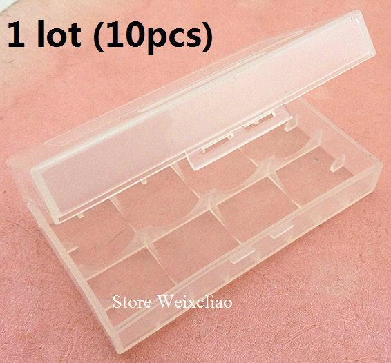 18650 16340 cr123 14500 17670 بطارية ليثيوم مربع صندوق تخزين مقاوم للرطوبة 1 وحدة (10PCS) شحن مجاني