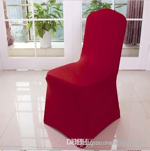 Molti all'ingrosso sedia colore copre Spandex Per banchetto di nozze Chair Covers decorazione dell'hotel trasporto libero della decorazione