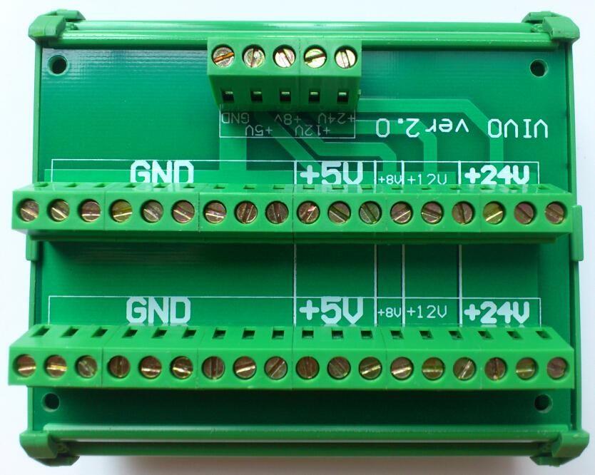 DC 24V 8V 12V 5V Power Divider Wire Splitter Common terminal block DIN Rail Type