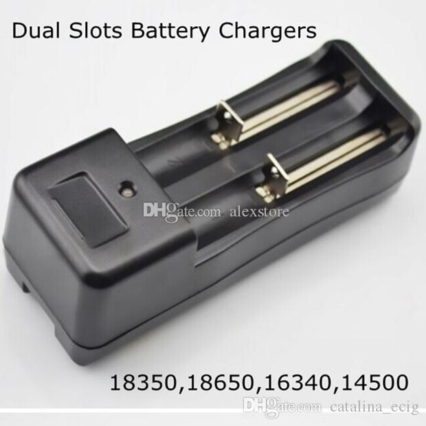 Universal Dual Battery Charger for 18650 18350 16340 14500 Li-ion Battery EU