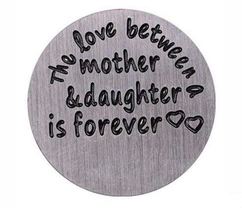 20 قطعة / الوحدة سحر الحب بين الأم وابنتها للأبد المقاوم للصدأ العائمة نافذة لوحات صالح لل 30 ملليمتر
