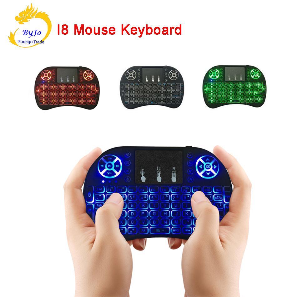 미니 무선 키보드 i8 2.4GHz 에어 마우스 키보드 원격 제어 터치 패드 안드로이드 박스 TV 3D 게임 태블릿 PC 용