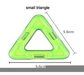 один маленький треугольник разнообразие детские строительные блоки магнитный лист магнитная мудрость магия кусок