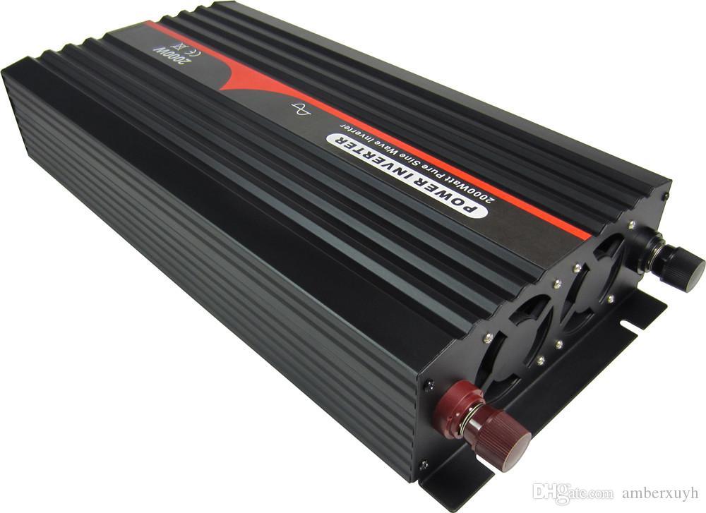 Full Power 24V 110V 60 HZ EUA soquete 2000W de onda senoidal pura DC Inverter AC