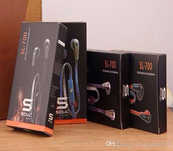 iPhone 6s 6 5s 5 Artı Mobil Telefon MP3 Kulaklık Sport Kulaklık için Mic ile Ludacris Kulaklık By ucuz 500pcs İyi Kalite Soul Mini SL700