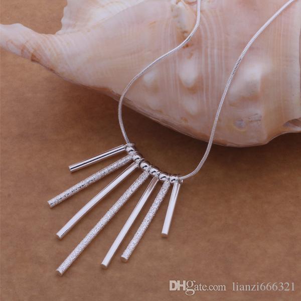 Gratis verzending met tracking nummer beste meest hot verkopen vrouwen delicate geschenk sieraden 925 zilver 7 strips ketting