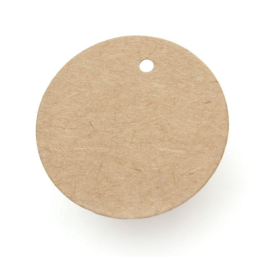 4mm no string round kraft blank gift tag kraft round hang price tags