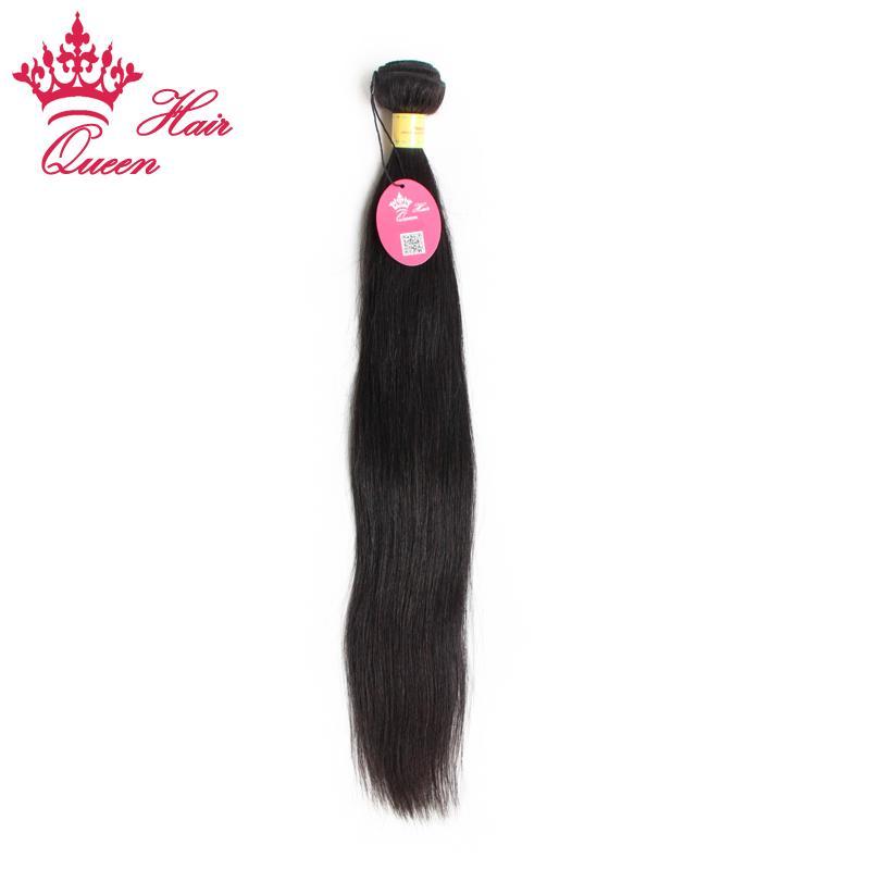 Koningin Haar Onverwerkte Queen Haar Straight Products 1 PC Kavel Maagd Peruaanse Hair Extensions 12 inch tot 28 inch op voorraad