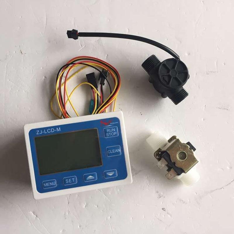 "Freeshipping G1/2"" Flow Rate Water Sensor Meter+LCD Digital Display Control Total Litres Hall"