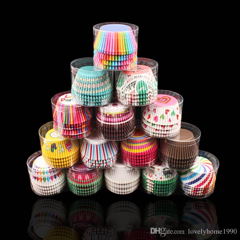 100Pc/Set Paper Cake Forms Cupcake Liner Baking Box