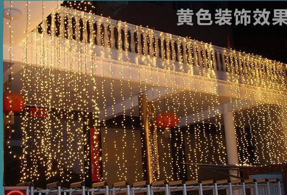 Рождественские свет свадьбы деятельность фона окна макета украшения изделия 8 * 4M водопад воды 1024led праздник огней серии