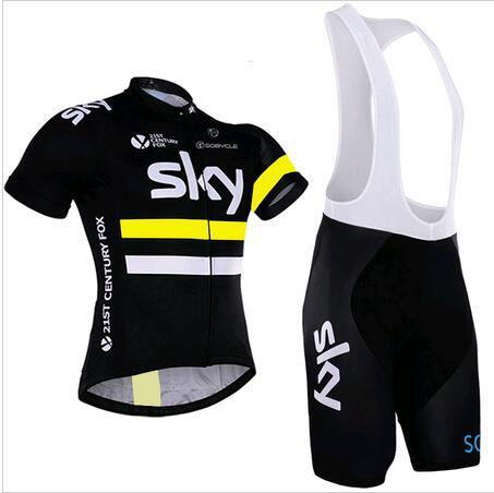 S-4XL Men cycling jersey 2016 team sky cycling clothing sets maillot  ciclismo Short Sleeves
