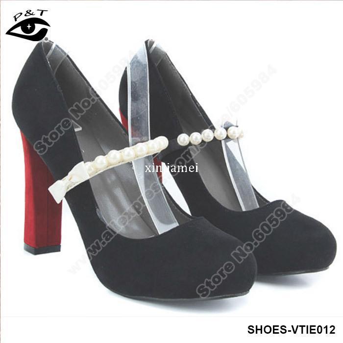 10 par / lote moda perlas elásticas correas del zapato antideslizante zapatos zapatos decoración accesorios envío gratis