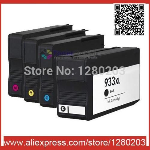 4 Цвет 1 комплект картриджей для HP 932 XL 933 XL для HP Officejet Pro 6100 6600 6700 принтер с чипом