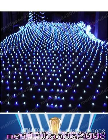 High Power Blue 200 LED 2m *3m Net light Net Mesh Fairy Lights Twinkle Lighting Christmas Wedding FREE SHIPPING MYY1662
