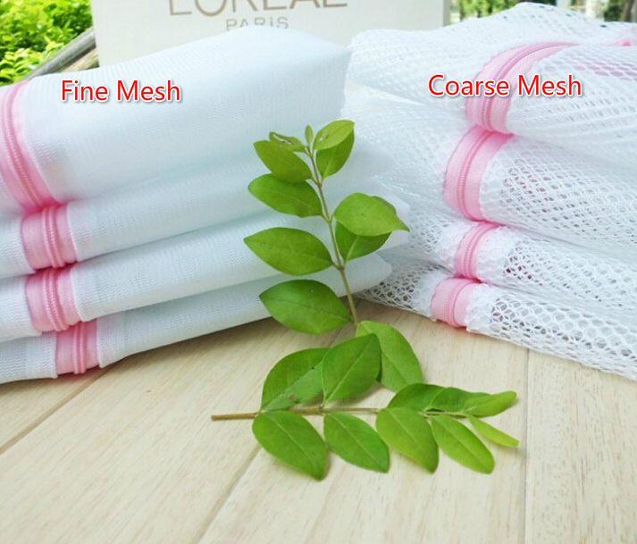 GRATIS EMS DHL 100 STKS Hoge kwaliteit 40 * 50 cm Fijne mesh grof mesh bra kleding waszak wasmachine nylon netto mesh hosiery rits tas