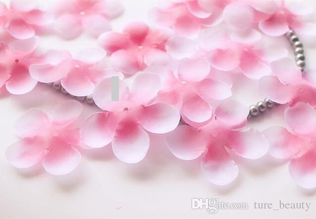 18%OFF 1000pcs Rose Petals Simulation Cherry Blossom Petals Wedding Petals Fake Artificial Flower Home And Wedding Decor Free Shipping