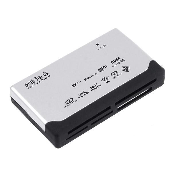 Universal USB 2.0 ALL IN 1 LECTOR DE Multi TARJETAS Tarjeta de memoria digital segura / XD / MMC / MS / CF / SDHC Alta compatibilidad al por mayor / al por menor