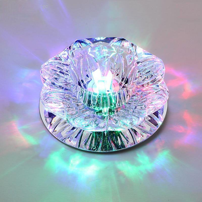 Freier DHL-Korridor Spiegel Deckenleuchte 3W 5W 7WAisle Veranda Beleuchtung Down-Kristall Mordern Surface Mounted LED-Deckenleuchten für Wohnzimmer