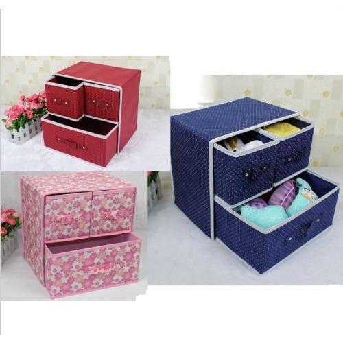 Multi-function foldable Underwear Socks Storage Box Make Up Cosmetic Storage Box
