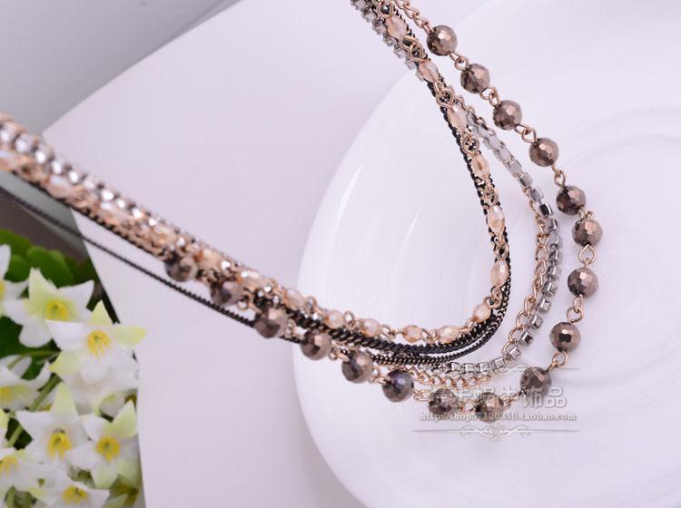 wonderful pearl more layers lady's necklace (woniu152)