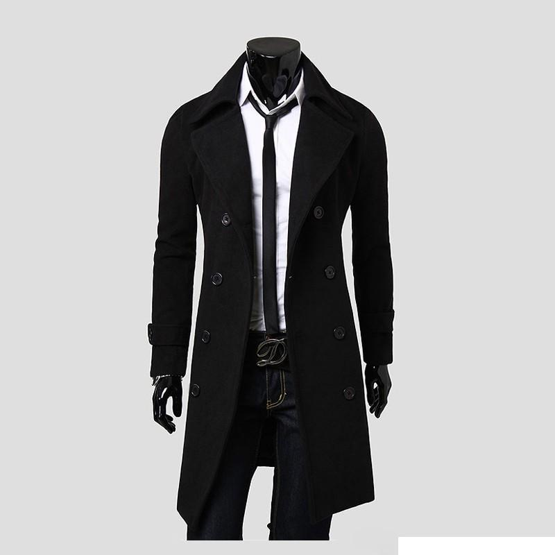Best Quality 2016 New Brand Winter Mens Long Pea Coat Men'S Wool ...