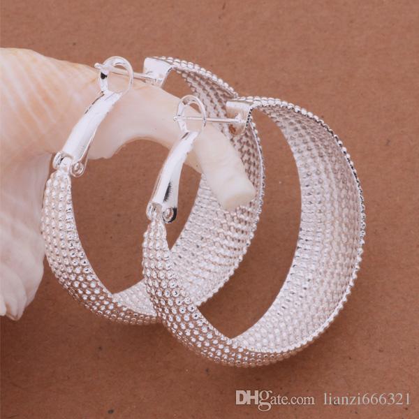 Mode ganska unikt mode (smycken tillverkare) 20 st Många örhängen 925 sterling silver smycken fabrikspris mode