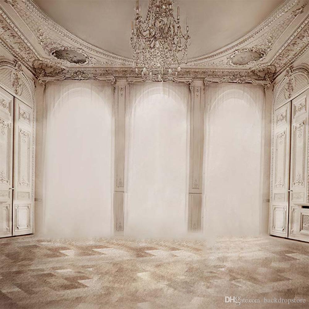 Casa di lusso coperta lampadario di cristallo brillante Windows foto studio fotografico sfondo tessuto in vinile digitale stampato fondali fotografia