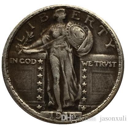 1919-S Standing Liberty Quarter 코인 복사본 무료 배송