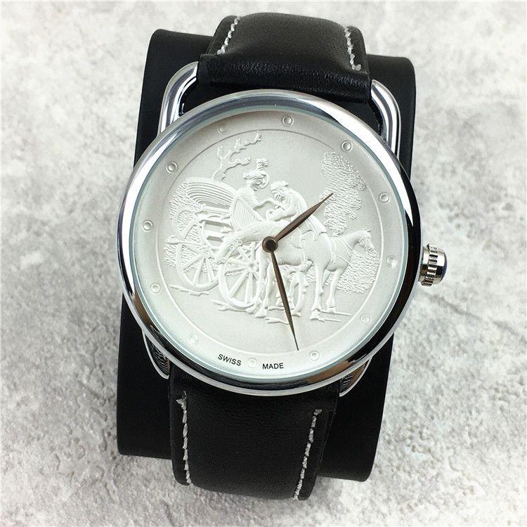 클래식 패션 여성 / 남성 시계 애호가 시계 정품 가죽 남성 시계 큰 다이얼 40mm 유명 디자이너 15pcs DHL 무료 고급