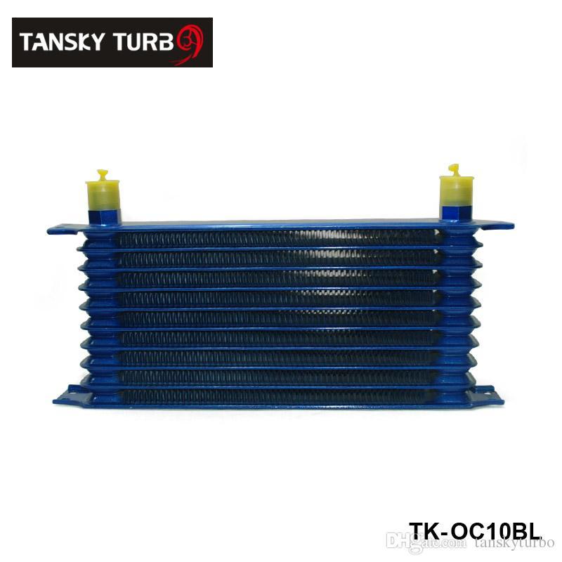 Tansky - 10 hileras de aluminio de 50 mm de espesor universal TIPO DE CONFIANZA enfriador de aceite Para universal sin logotipo TK-OC10BL