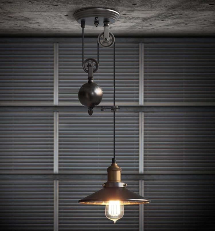 Edison Retro Adjustable Pulley pendant Lights novelty lighting hanging lamps E27 led Lamparas Industrial lighting rise & fall pendant lamp