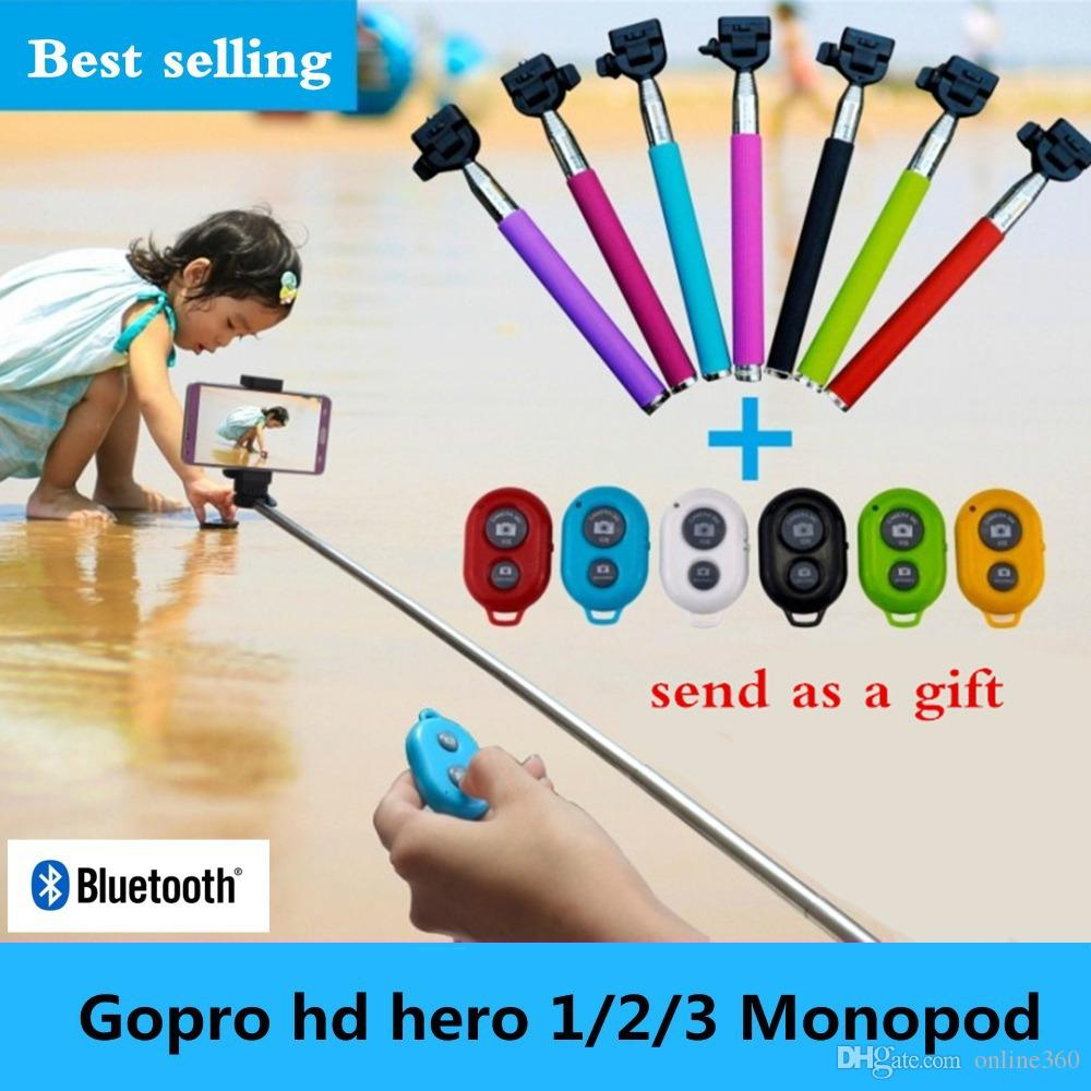 50 sets (50pcs Extendable Z07-1 Monopod+50pcs phone holder+50pc Bluetooth remote Shutter) Selfie stick for iphone Android smart