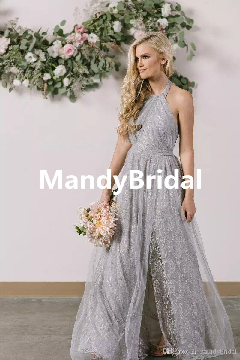 Light Gray Bridesmaid Dresses