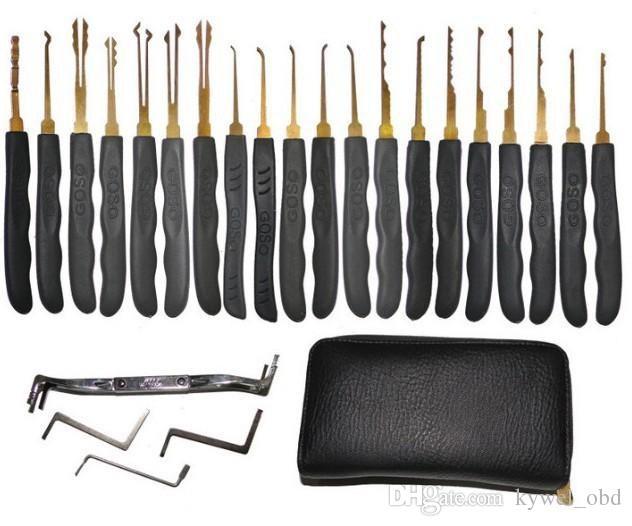 أدوات الأقفال الساخنة goso 20 قطع قفل أدوات اختيار، قفل منزل اختيار أداة freeshipping