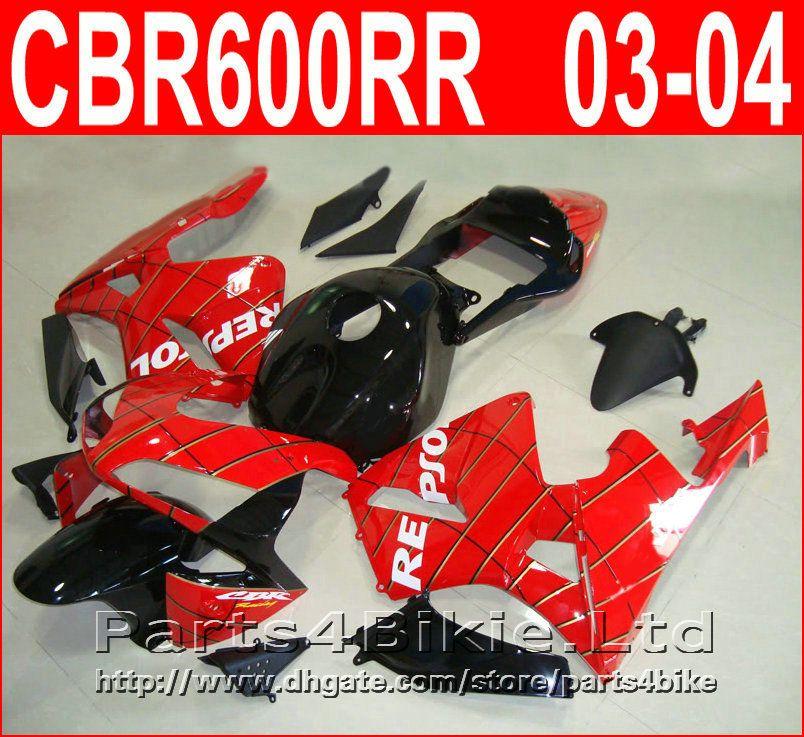 Repsol red black Carrozzeria per carenature Honda CBR600RR 2003 2006 Carene CBR 600 RR CBR 600RR 03 04 AGTC