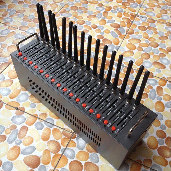 도매 -SMS 게이트웨이 Wavecom 16 포트 SMS 모뎀 풀 900 / 1800mhz 대량 sms 방송 마케팅 sim 은행