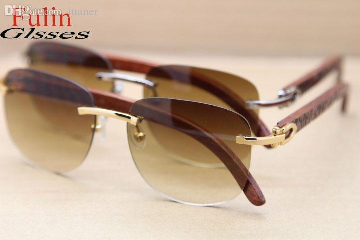 도매 - 새 스타일 T8306000 목재 선글라스 고급 남성 핫 안경 사이즈 54-18-135MM