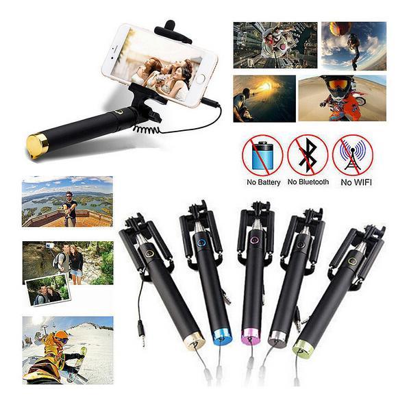 Popular Hot extensível Bluetooth selfie vara Pega Mini Monopod auto vara para telemóveis iPhone / Samsung / HTC / SONY / Nokia etc