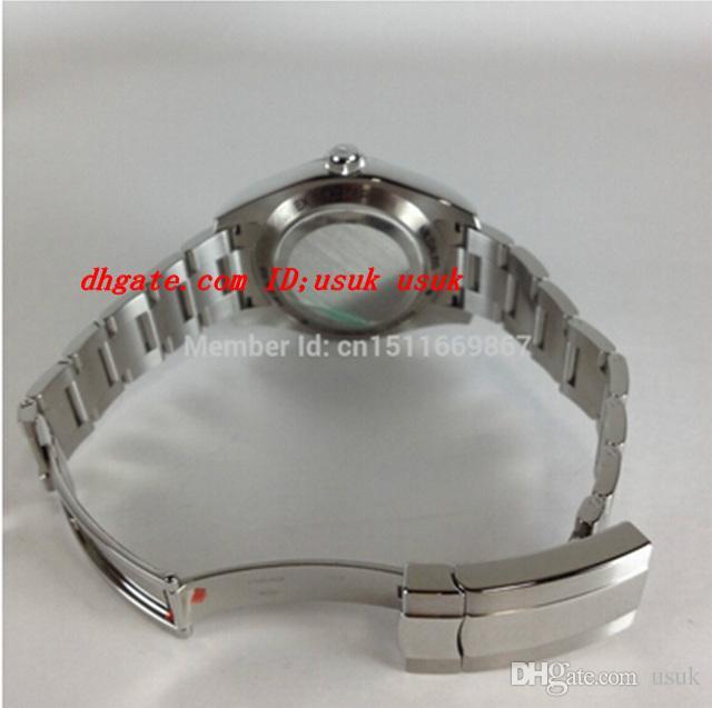 Saphir Details Edelstahl Uhren 116400 Luxusuhr Dial Blue Über Armbanduhr Herren Automatische Herren IAVSH