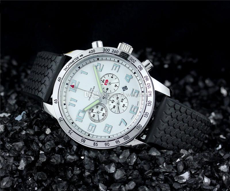 100%メンズウォッチ、トップファッションクラシックメンズクロノグラフ腕時計540