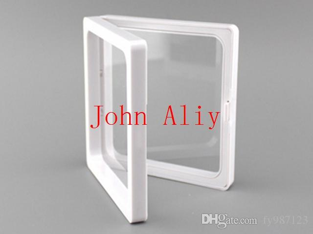 Hot selling clear plastic membranes photo frame display/ collection box/jewelry box 9x9x2cm