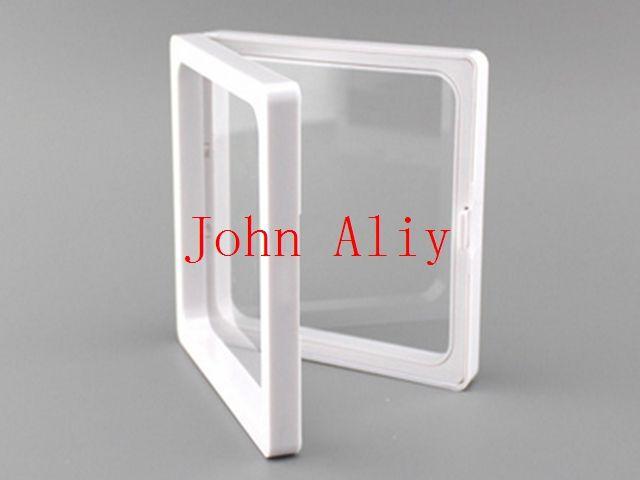 Vendita calda trasparente membrane in plastica con cornice per foto / scatola di raccolta / portagioie 9x9x2cm