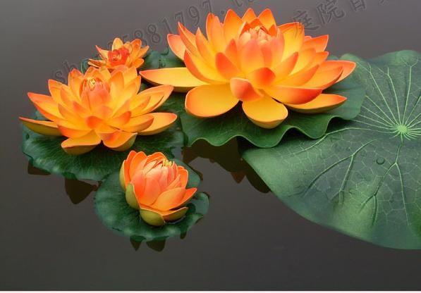 17 cm diameter vacker konstgjord lotus blomma vattenpool fisk tank dekor växter hantverk leveranser för bröllopsfest hem dekoration