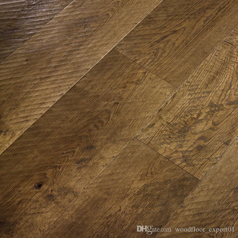 Antique oak wood flooring Large living room floor Crack floor European style wooden floor Simple wooden floor Old Ship Wood Flooring