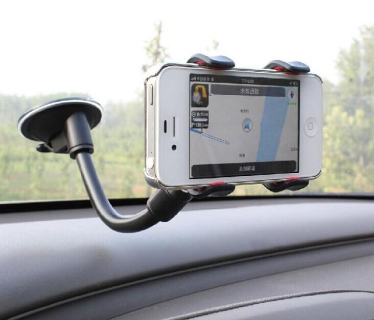 Darmowy DHL 360 Stopni Długie ramię Uniwersalny samochód Miękki uchwyt wspornikowy do iPhone 6 iPhone6 Note4 Telefony komórkowe