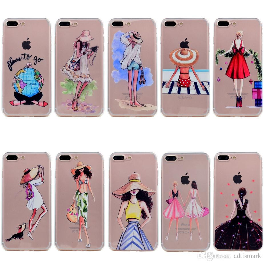 For Iphone 5 5s Se 6 6s 7plus Case Transparent Clear Soft Tpu Back Cute Girl Cover For Iphone 8 Iphone8 Plus Case Bedazzled Phone Cases Cell Phone Cases Canada From Adtismark 0 73 Dhgate Com