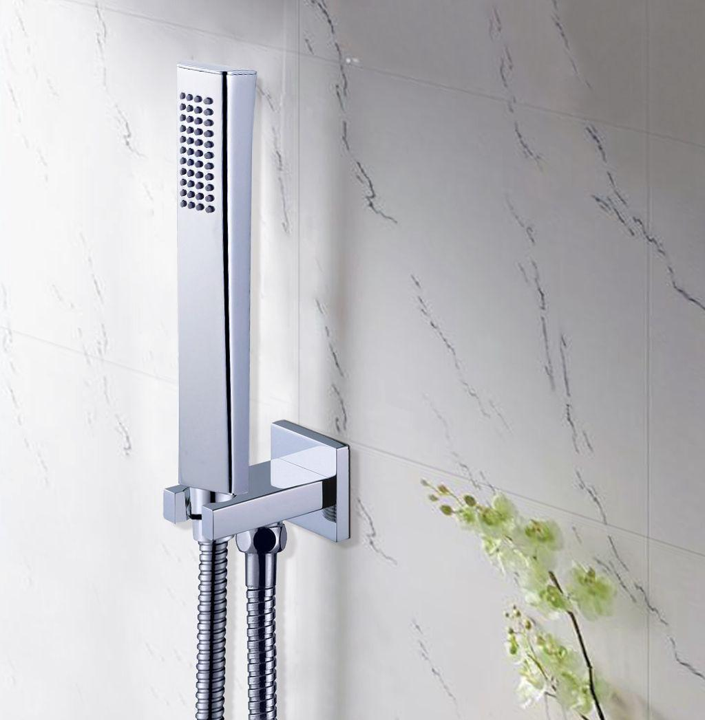 2019 Bathroom Brass Square Handheld Shower Head With Brass Wall Bracket Holder Stainless Steel 1 5m Hose From Aprilliang 40 2 Dhgate Com