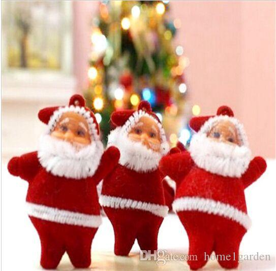 6 Pcs/Lot Christmas Tree Decorations Mini Santa Claus Christmas Ornaments for Tree Hanging Accessories Ornaments for Home